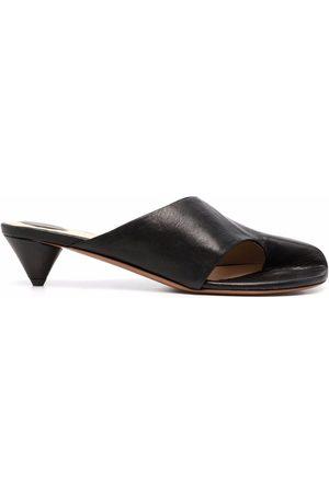 Angelo Figus Cut-out low heel mules