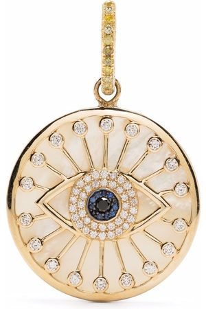 LOREE RODKIN 18kt yellow , pearl and diamond eye pendant