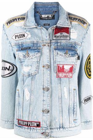 Philipp Plein Marvelous patch-detail denim jacket