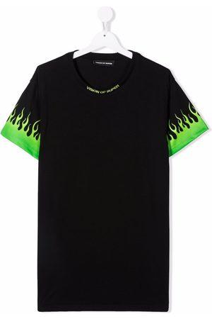 Vision Of Super Flame-print T-shirt