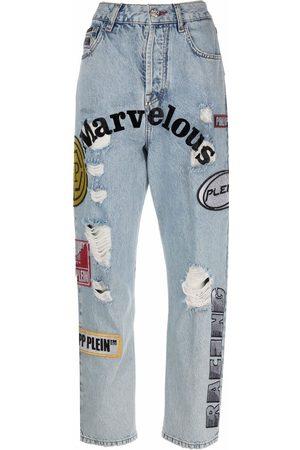 Philipp Plein Patchwork boyfriend jeans