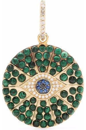 LOREE RODKIN 18kt yellow eye malachite and diamond pendant