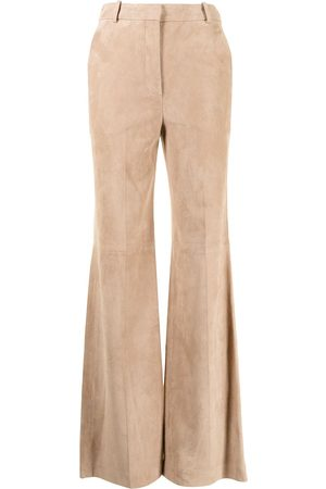Joseph Flared leather trousers