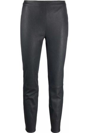 LORENA ANTONIAZZI High-waisted leather leggings
