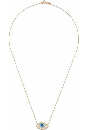 MONAN 18kt yellow gold enamel necklace