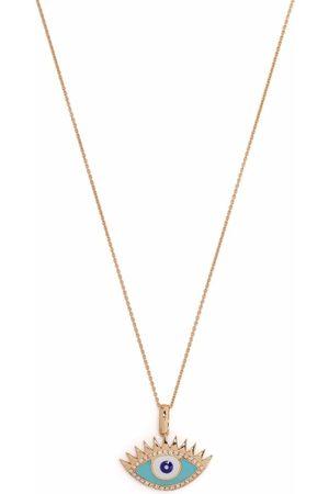 MONAN 18kt rose gold Evil Eye enamel and diamond necklace