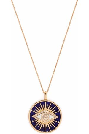 MONAN 18kt rose gold enamel and diamond necklace