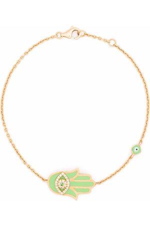 MONAN 18kt yellow enamel and diamond bracelet