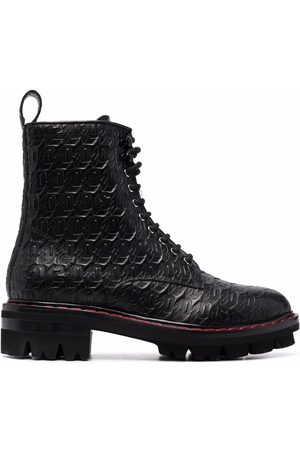 Dsquared2 Women Lace-up Boots - Monogram lace-up leather boots