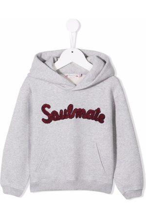 BONPOINT Embroidered slogan hoodie