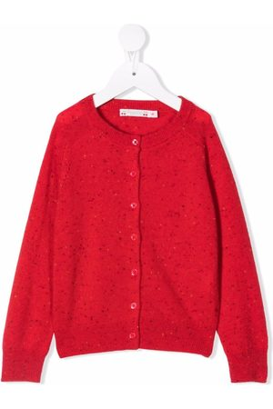 BONPOINT Perforated cashmere knitted cardigan