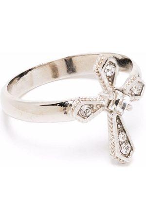 Dolce & Gabbana Crystal-embellished cross ring