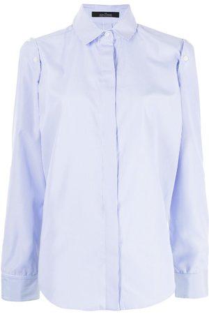 Rokh Pinstripe-print tailored long-sleeve shirt