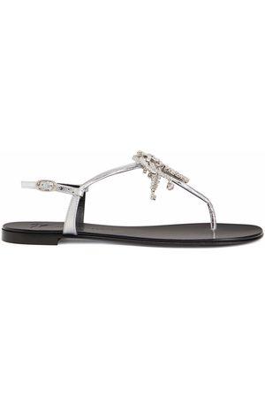 Giuseppe Zanotti Nimes crystal-embellished flat sandals