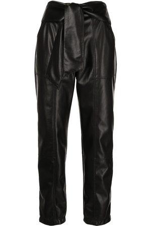 JONATHAN SIMKHAI Women Leather Pants - Tessa faux-leather trousers