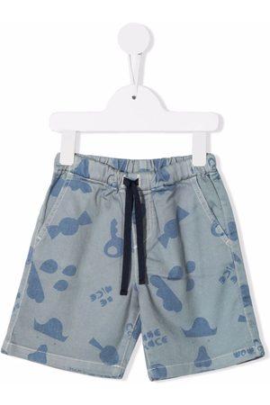 KNOT Graphic-print drawstring shorts