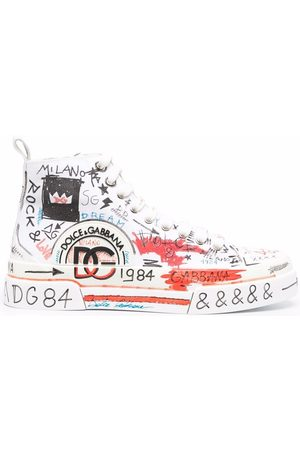 Dolce & Gabbana Men Sneakers - Portofino Light graffiti-print sneakers