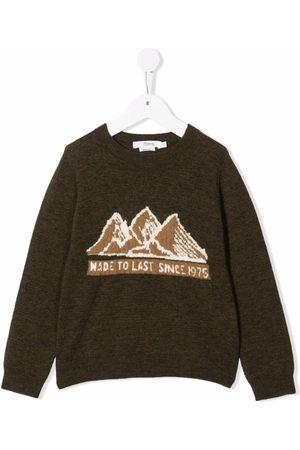 BONPOINT Slogan-print long-sleeved sweater