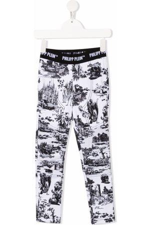 Philipp Plein En PLEIN air-print stretch-cotton leggings