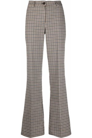 P.a.r.o.s.h. Check flared trousers