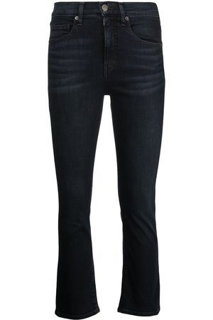 VERONICA BEARD Mid-rise cropped flared jeans