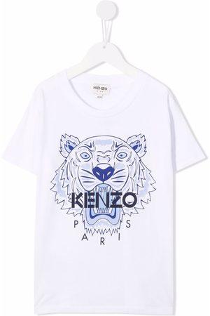Kenzo Boys Short Sleeve - Logo crew-neck T-shirt