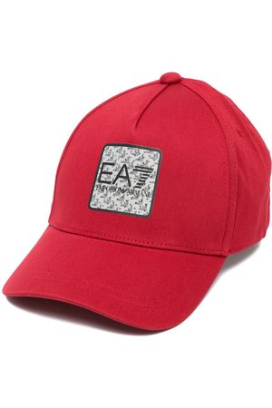 EA7 Men Hats - Logo-patch cotton cap