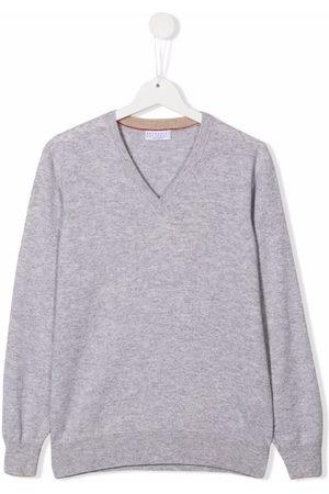 Brunello Cucinelli TEEN v-neck cashmere jumper