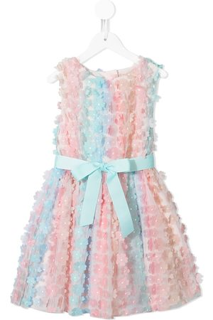 Charabia Floral-appliqué tulle dress