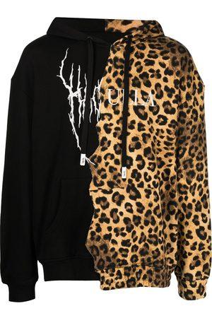 HACULLA Paneled leopard-print logo hoodie