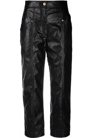 Twin-Set Faux-leather cropped trousers