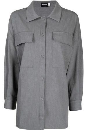 GOODIOUS Garbardine long sleeved overshirt