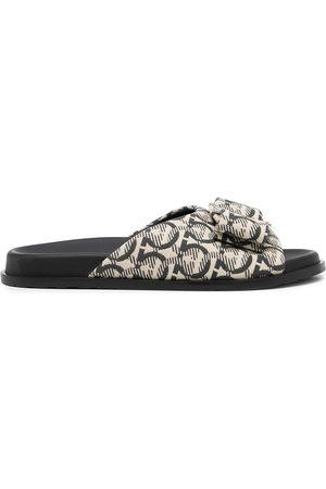 Salvatore Ferragamo Logo-print open-toe sandals