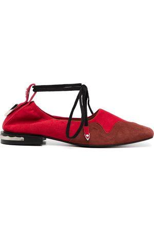 TOGA PULLA Square-toe ballerina shoes
