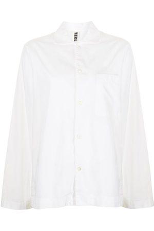 Tekla Women Long Sleeve - Poplin long-sleeve pajama shirt