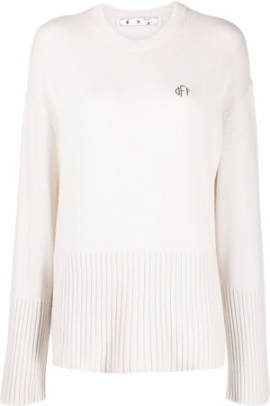 OFF-WHITE Logo-embroidered jumper