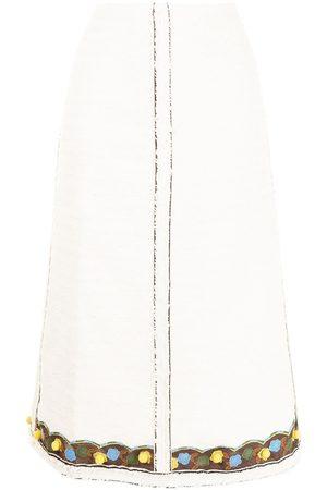 Tory Burch Tweed midi skirt