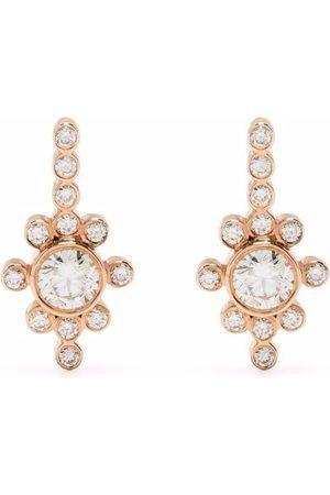 YANNIS SERGAKIS 18kt rose gold La Pierre diamond earrings