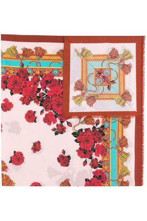 Dolce & Gabbana Women Scarves - Floral-print cotton scarf