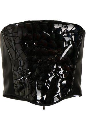 MATICEVSKI Gloss-effect corset
