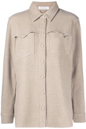 ANINE BING Luke long-sleeve wool shirt