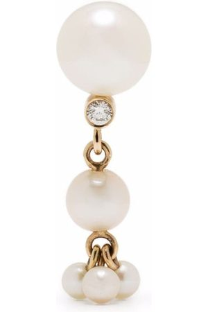 SOPHIE BILLE BRAHE 14kt gold Dolce pearl and diamond earring