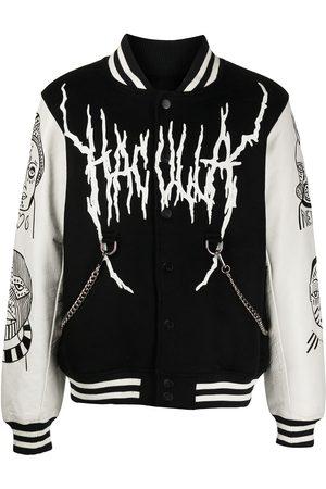 HACULLA Leather-sleeve varsity jacket
