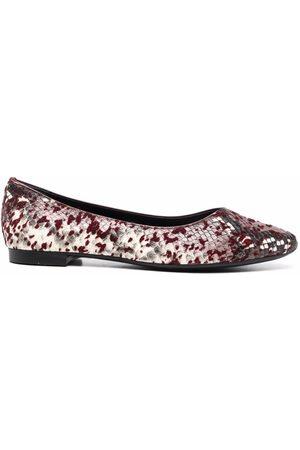 AGL ATTILIO GIUSTI LEOMBRUNI Snakeskin-effect leather ballerina shoes