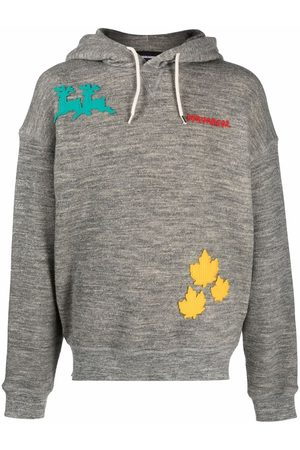 Dsquared2 Men Sweatshirts - Embroidered logo-patch relaxed hoodie