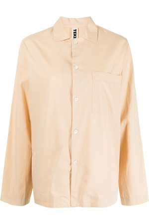 Tekla Poplin long-sleeve pajama shirt
