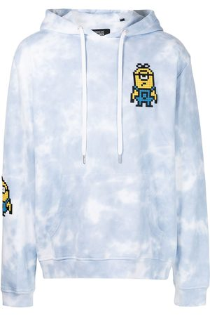 MOSTLY HEARD RARELY SEEN Floating Minions-print cotton hoodie