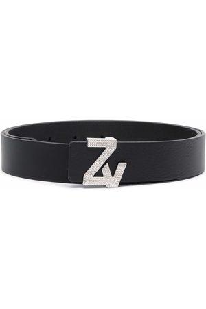 Zadig & Voltaire Women Belts - Logo-plaque leather belt