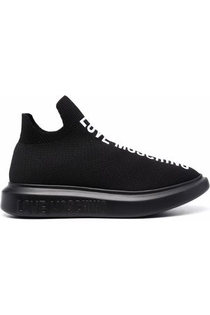 Love Moschino Logo-print sock sneakers
