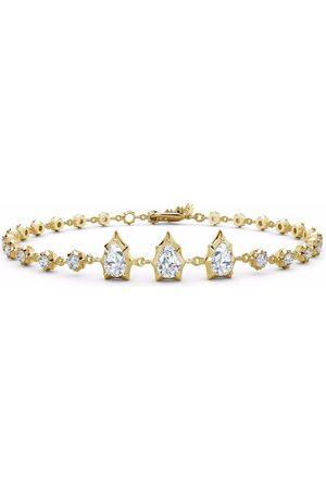 Jade Trau 18kt yellow Envoy diamond line bracelet
